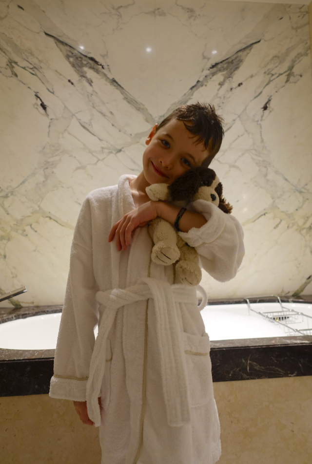 Review: Four Seasons Moscow-Cozy in Kid's Bathrobe