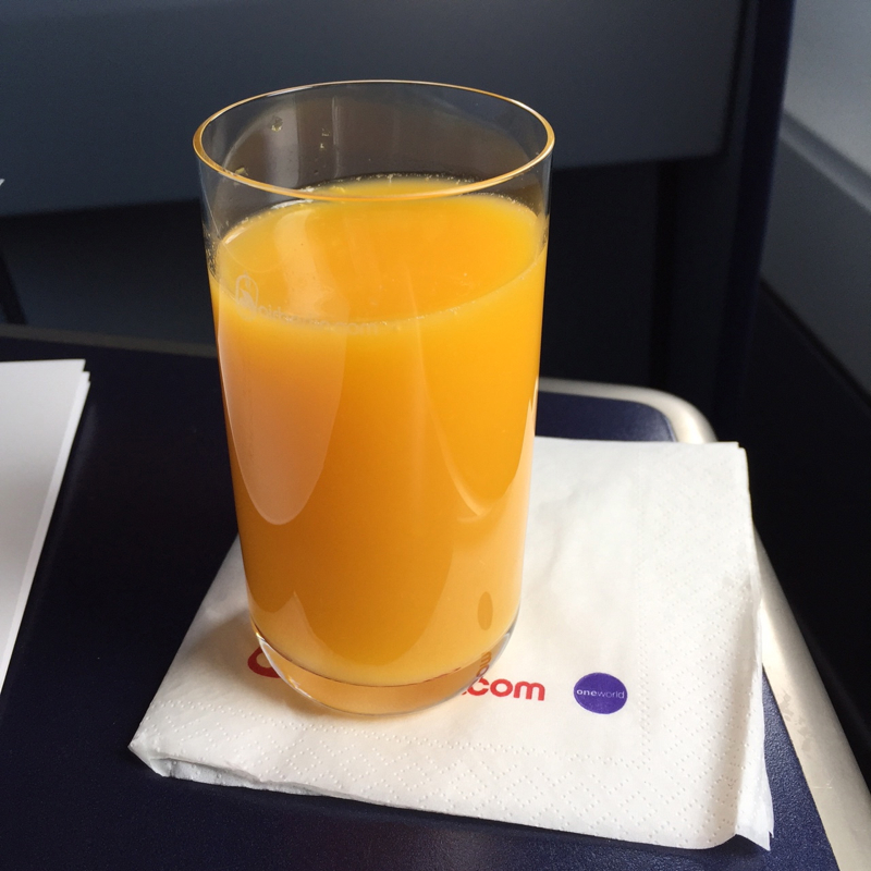 Orange Juice, Air Berlin Business Class Review