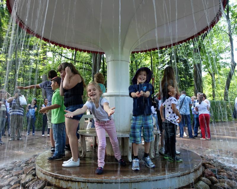 Mushroom Fountain, Peterhof Near St Petersburg, Russia