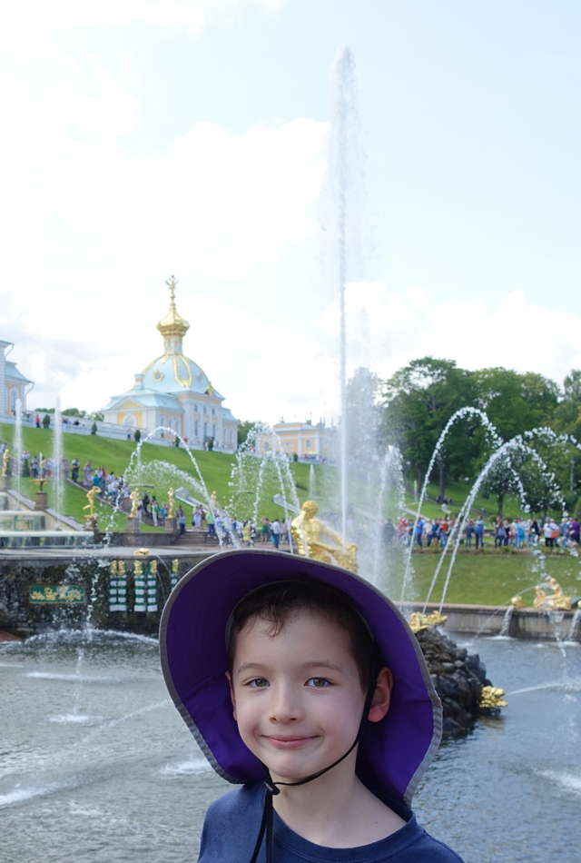 A Beautiful Day at Peterhof, Near St. Petersburg, Russia