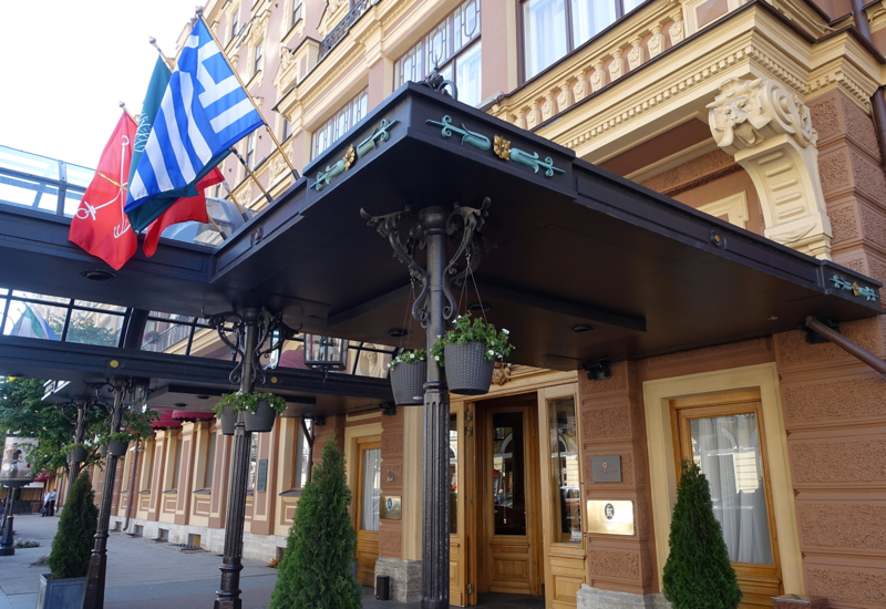 Entrance, Belmond Grand Hotel Europe, St. Petersburg Russia