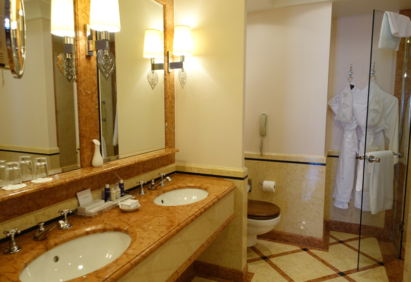 Suite Bathroom with Double Sinks, Belmond Grand Hotel Europe Review