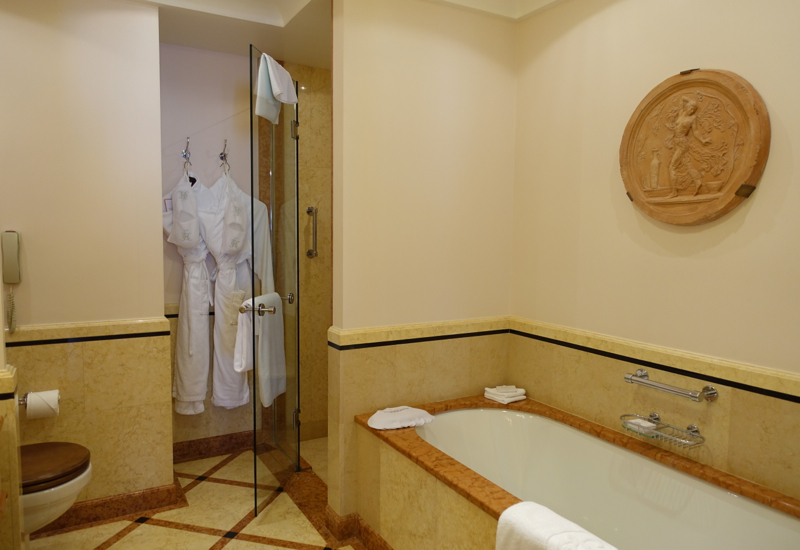 Suite Bathroom with Separate Shower and Tub, Belmond Grand Hotel Europe Review