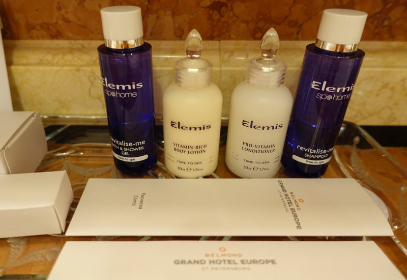 Elemis Conditioner on the Counter, Belmond Grand Hotel Europe Review
