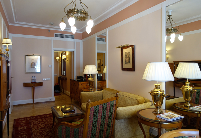 Review-Belmond Grand Hotel Europe-1 BR Suite Living Room