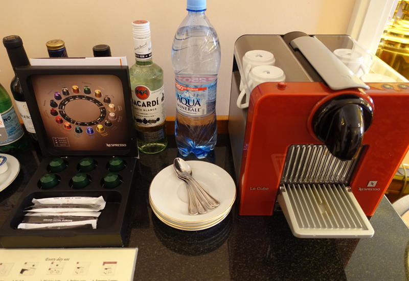 Nespresso Machine in Suite, Belmond Grand Hotel Europe Review