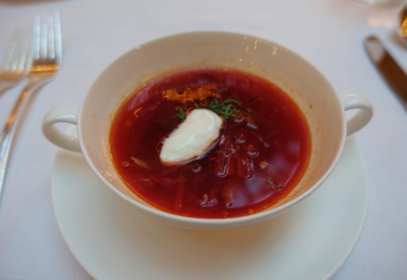 Borsch Soup, L'Europe Restaurant Review, Grand Hotel Europe