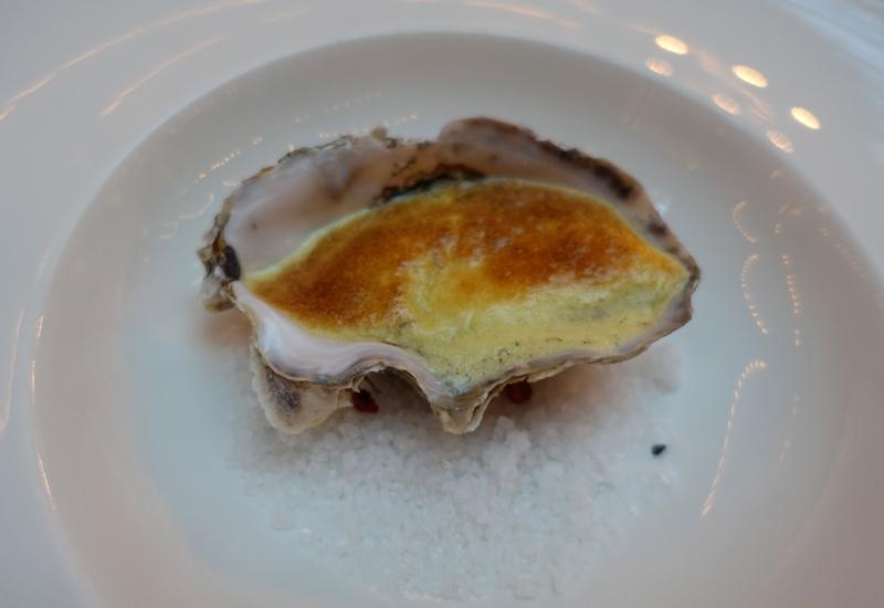 Oyster Au Gratin Amuse Bouche, L'Europe Restaurant Review, St. Petersburg Russia
