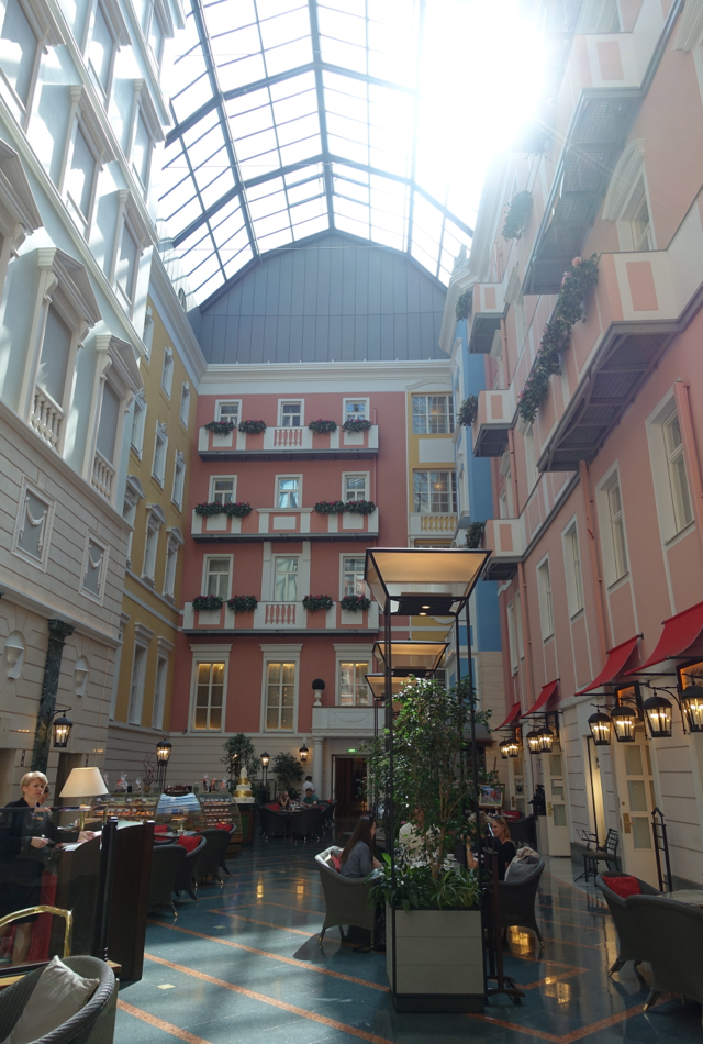Mezzanine Cafe, Grand Hotel Europe Review, St. Petersburg Russia