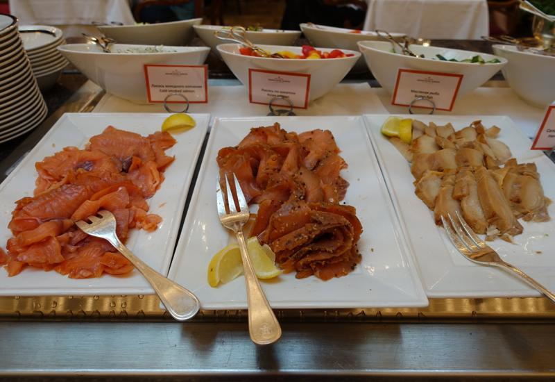 Smoked Salmon, Breakfast at L'Europe Restaurant, Grand Hotel Europe