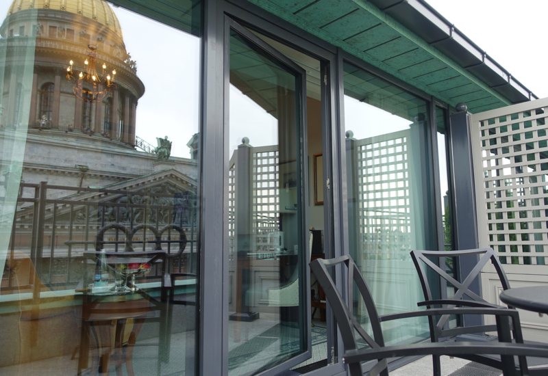 Terrace Room Balcony, Four Seasons St. Petersburg Russia