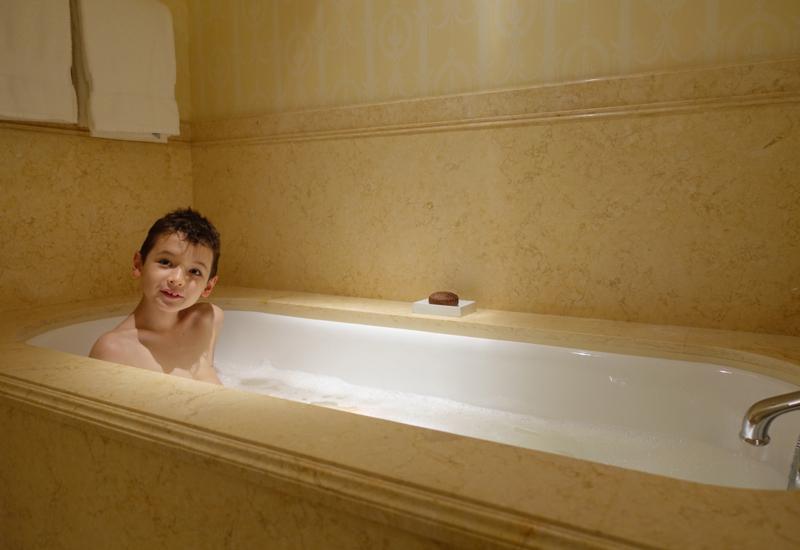 Enjoying a Bath, Four Seasons St. Petersburg Russia Review