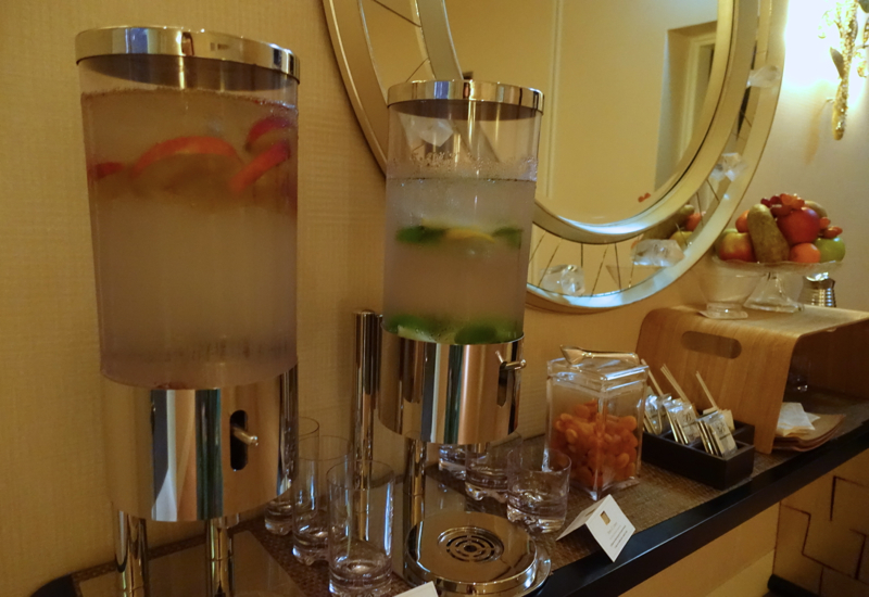 Spa Fruit and Infused Water, Four Seasons St. Petersburg Russia Review