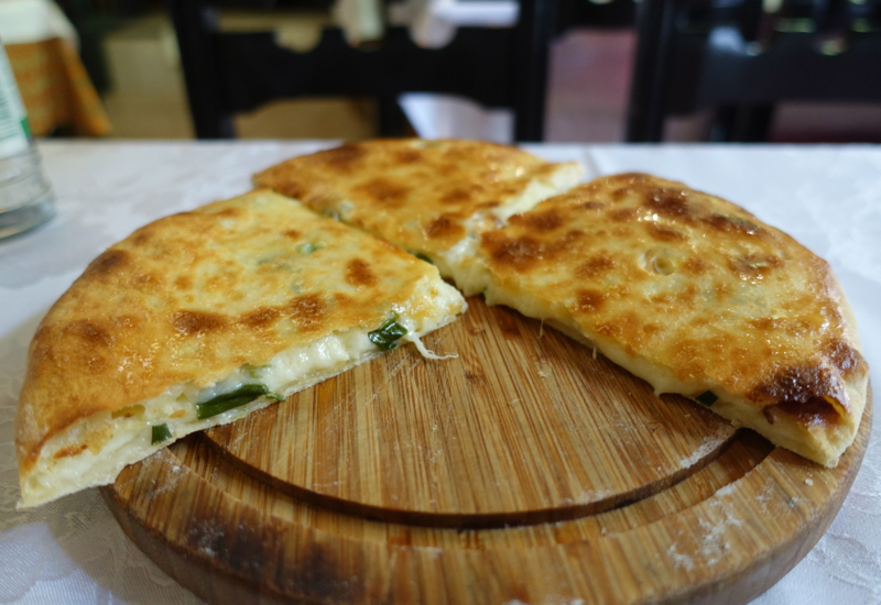 Khachapuri with Tarragon, Cat Cafe Review, St Petersburg Russia