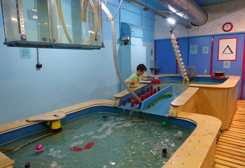 Building Dams in the Water Play Area of ЛабиринтУм Museum
