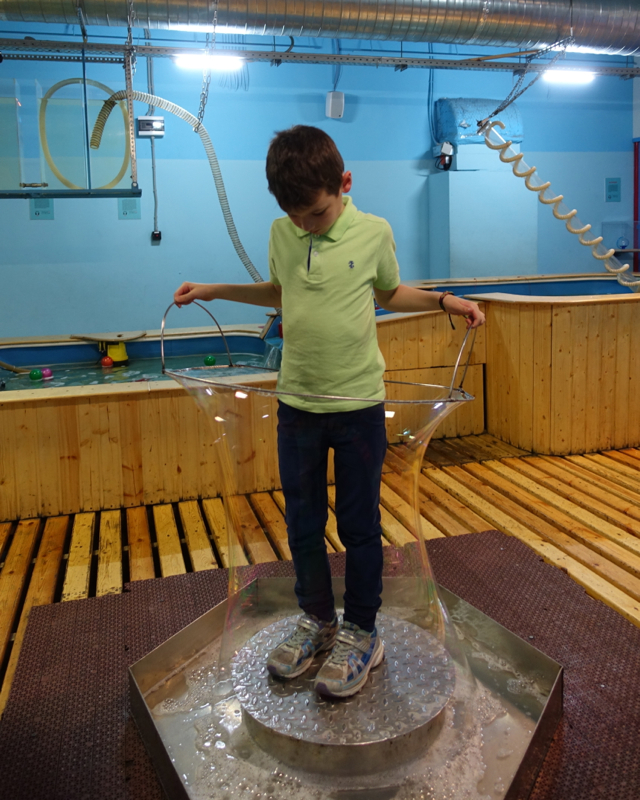 Making a Body Bubble at LabyrinthUm Museum, St Petersburg Russia
