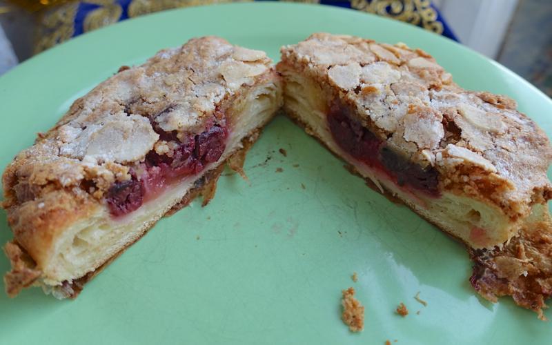 Volkonsky Bakery St Petersburg Review: Almond Cherry Croissant