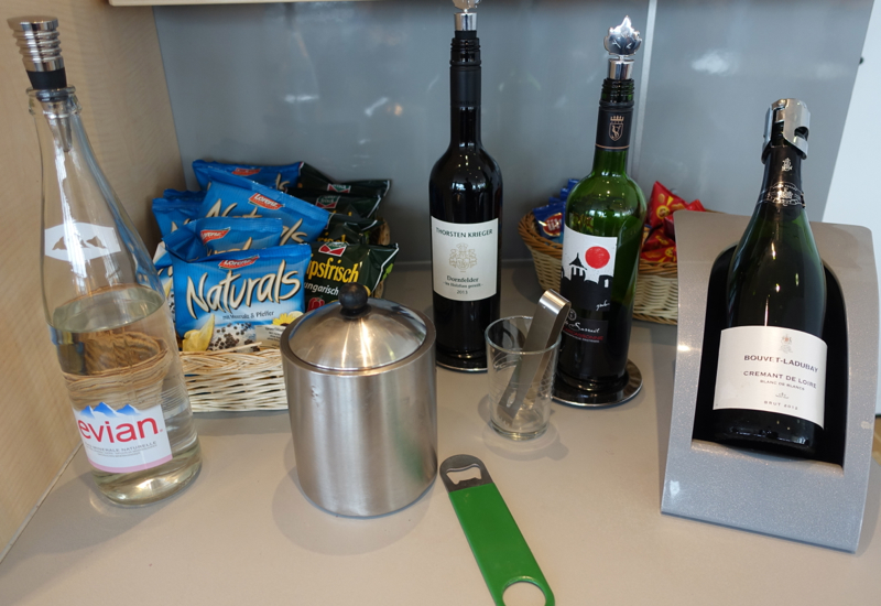 Evian and Wines, Air Berlin / Air France Lounge Review, Berlin Tegel Airport