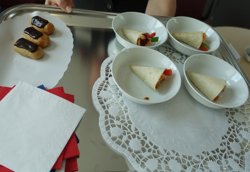 Mini Wraps and Mini Eclairs, Air France Lounge Review, Berlin Tegel Airport