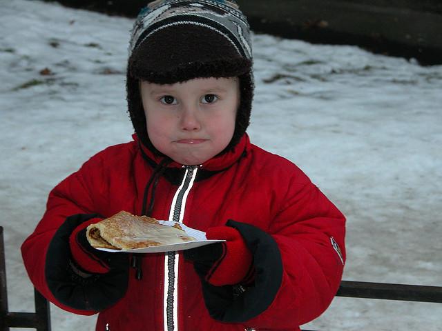 Kids love Russian blini