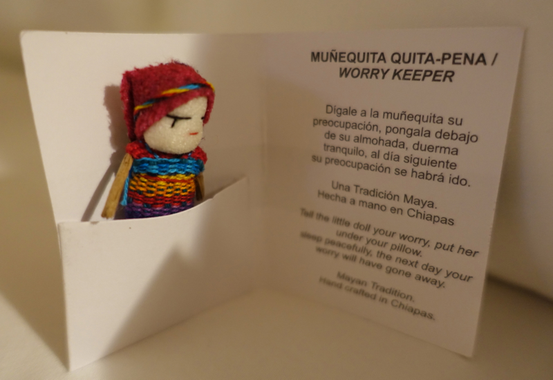 """Worry Keeper"" Doll at Turndown Service, Fairmont Mayakoba Review"