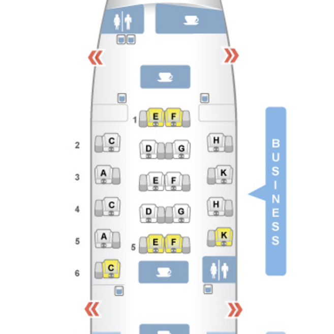 Airberlin Business Class A330 SeatGuru Seat Map: Best Business Class Seats