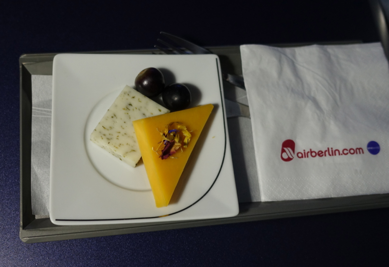 Cheese Plate, Air Berlin Business Class Review