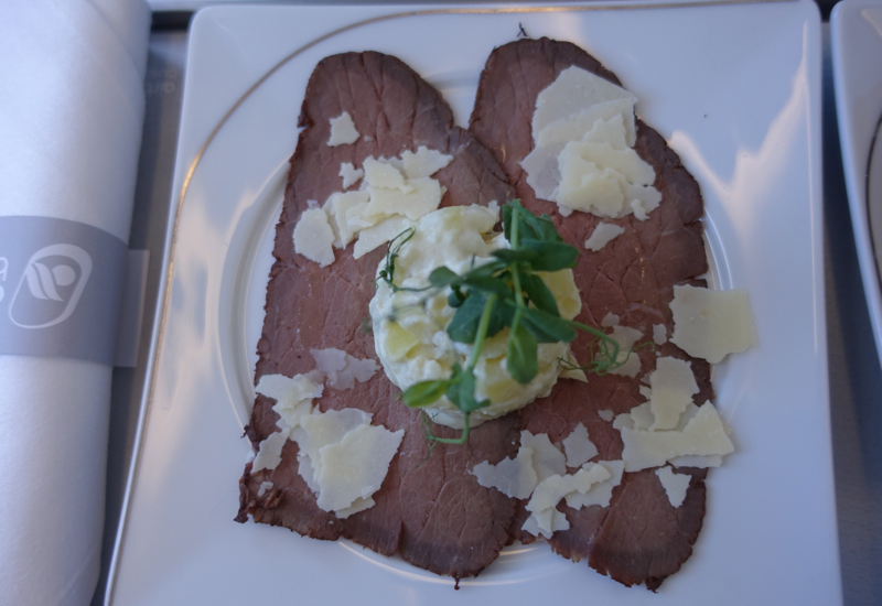 Roast Beef Carpaccio, Air Berlin Business Class Review