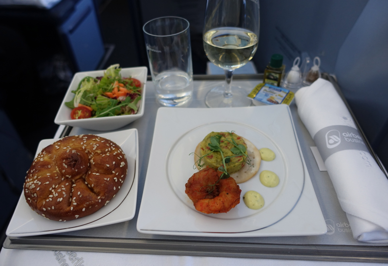 Airberlin Business Class Review-Lunch Appetizer: Tandoor Shrimp