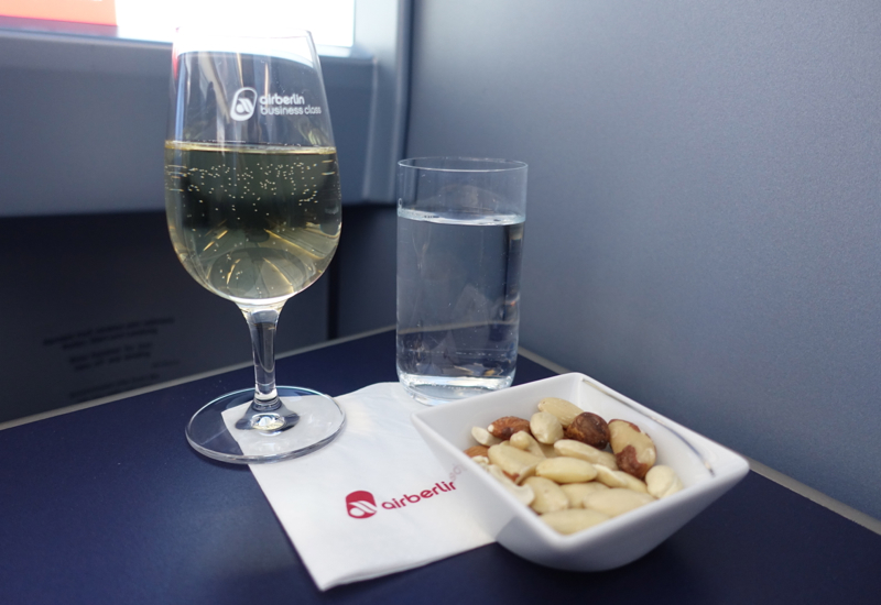Airberlin White Wine and Mixed Nuts