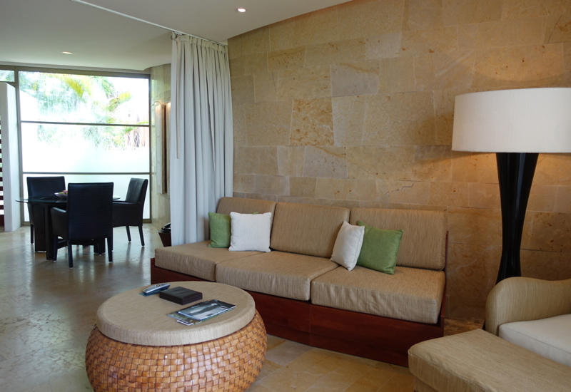 Rosewood Mayakoba Review-Deluxe Lagoon Suite Living Room