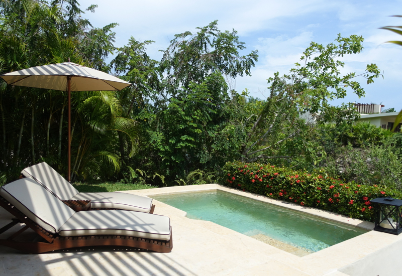 Rosewood Mayakoba Review-Plunge Pool and Loungers
