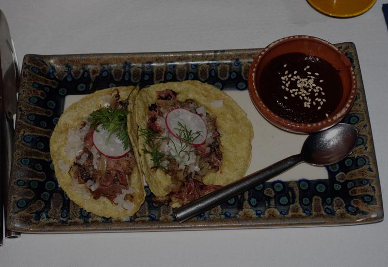 Duck Confit Tacos, Punta Bonita, Rosewood Mayakoba