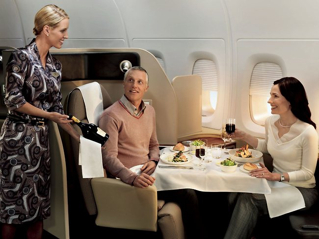 Qantas First Class on the A380: Book with AAdvantage Miles
