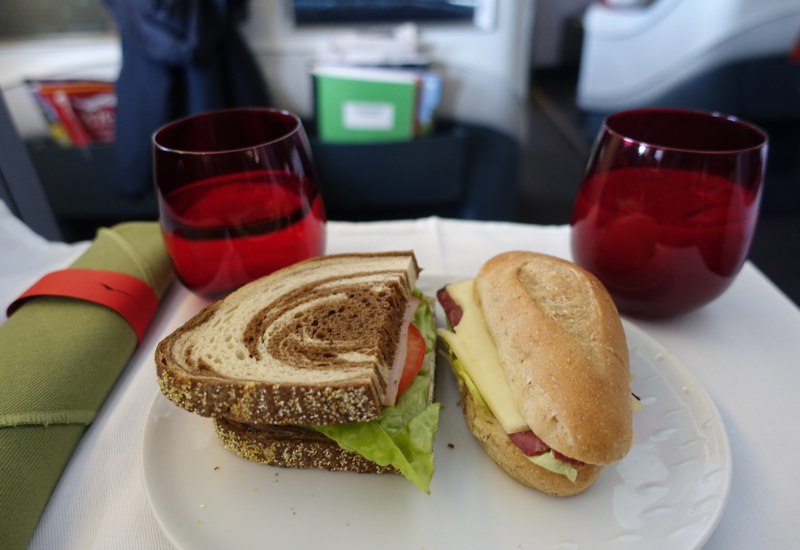 Lunch Sandwiches, TAM Airlines Business Class Review, 767-300ER