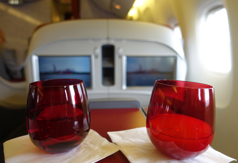 TAM Airlines Business Class Review: Pre-Flight Drinks