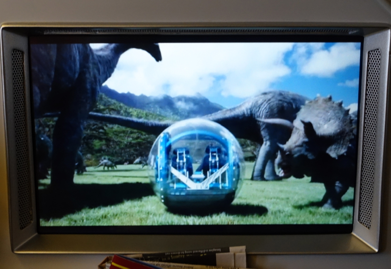 Jurassic World Film, TAM Airlines IFE Review