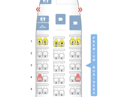TAM Airlines Business Class 767-300ER SeatGuru