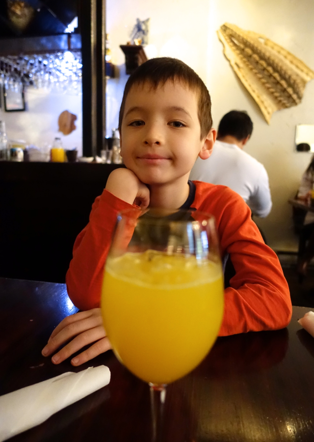 Fresh Squeezed Orange Juice, Beast Restaurant Toronto Review