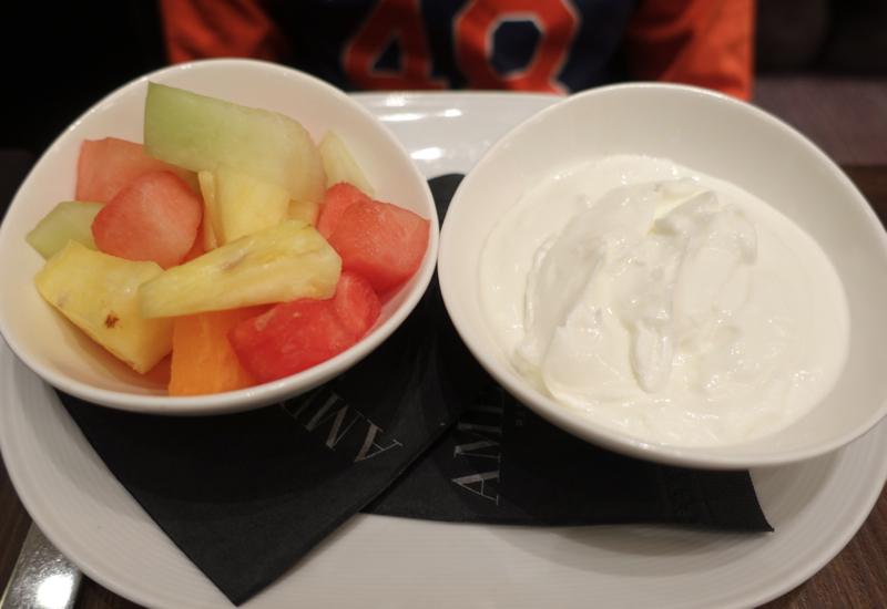 Fresh Fruit Bowl and Greek Yogurt, Breakfast at Trump Toronto