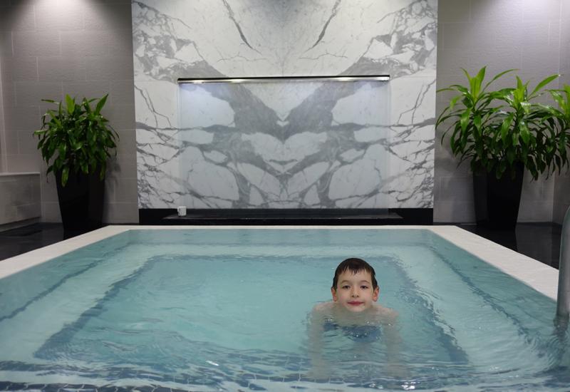 Enjoying the Jacuzzi Whirlpool, Trump Toronto Hotel Review