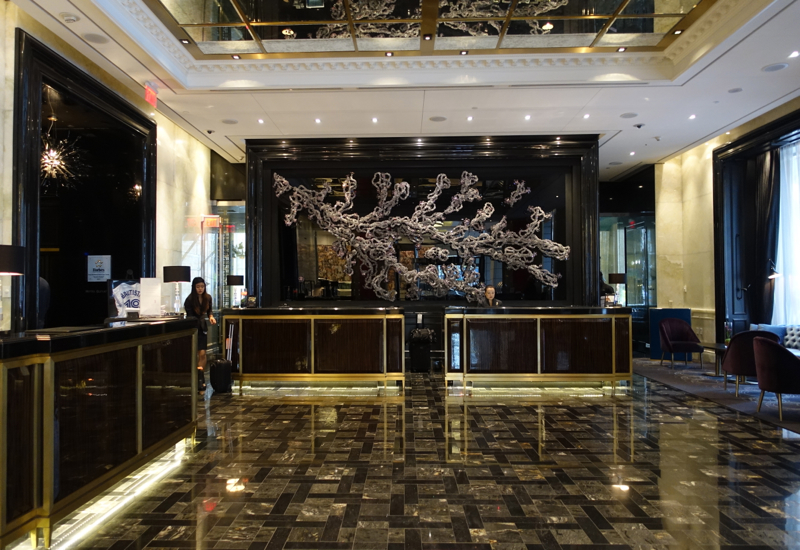 Trump Toronto Hotel Review: Lobby and Reception