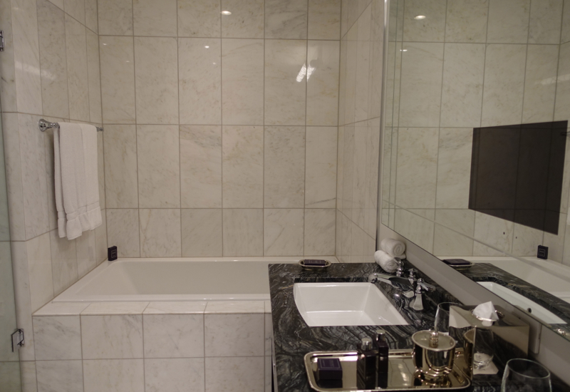 Trump Toronto Hotel Review-Superior Room Bathtub