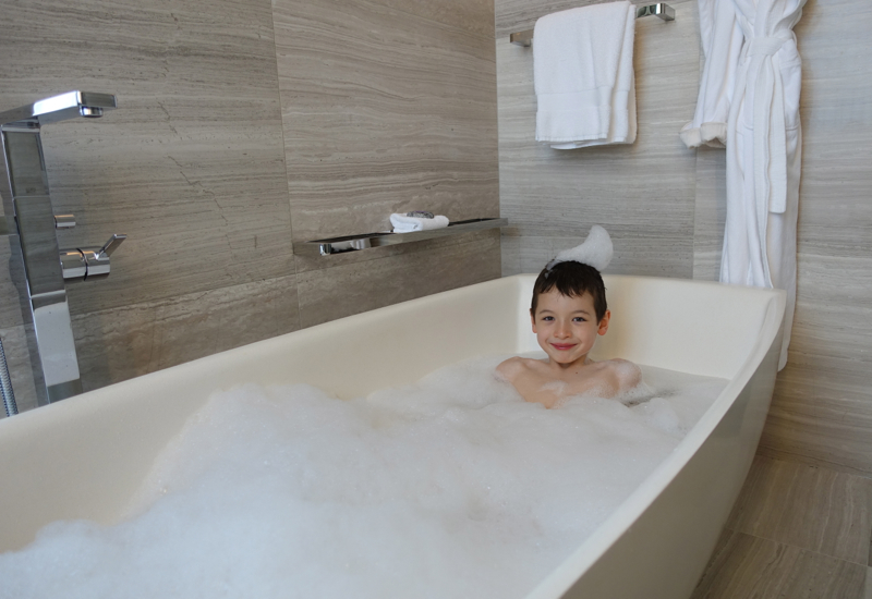 Luxuriating in a Bubble Bath, Four Seasons Toronto