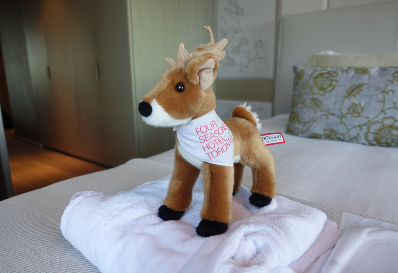 Four Seasons Toronto Review-Plush Reindeer Kid's Welcome Amenity