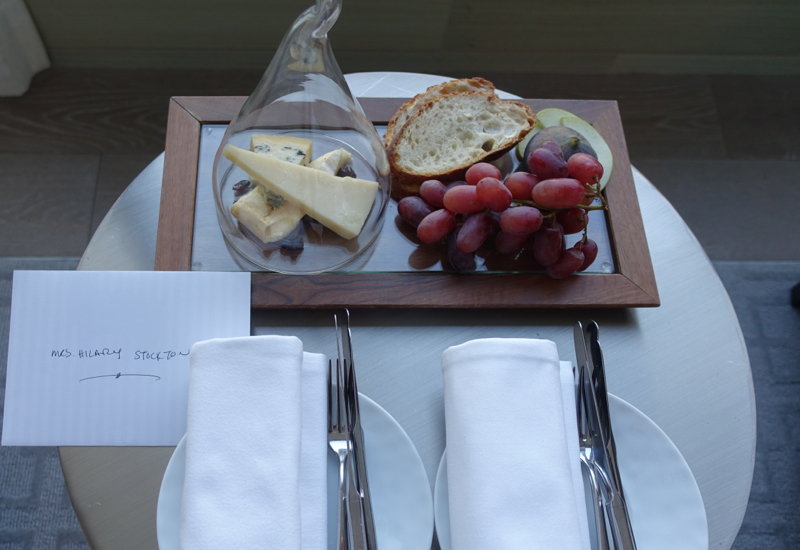 Four Seasons Toronto Review-Cheese and Bread Welcome Amenity