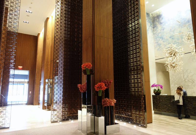 Four Seasons Toronto Review-Lobby Flowers and Reception