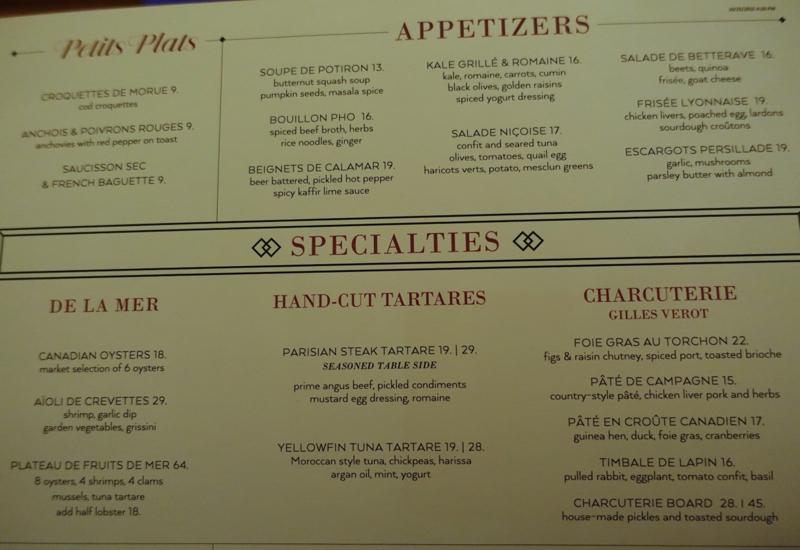 Cafe Boulud Dinner Menu-Appetizers