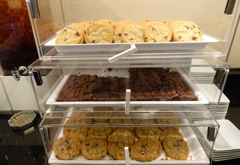 Cookies and Brownies at AA Admirals Club Lounge JFK Terminal 8