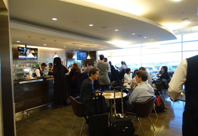 Bar Seating, Admirals Club Lounge JFK Terminal 8 Review